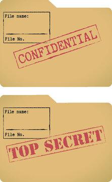 'Confidential' and 'Top secret' document file templates