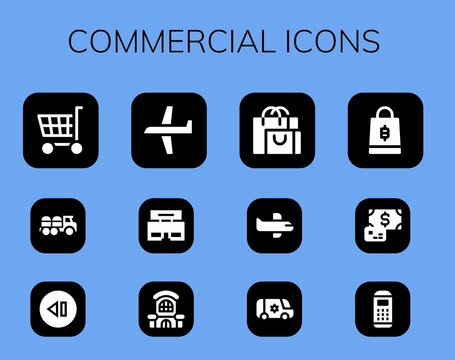 commercial icon set