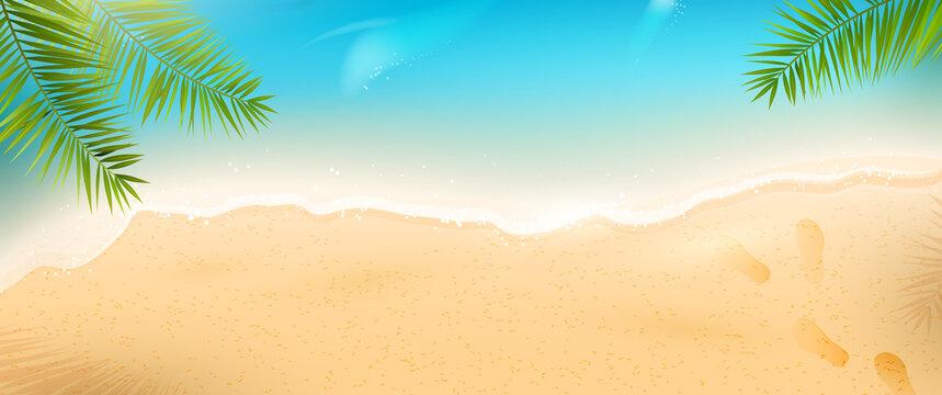 Summer beach header