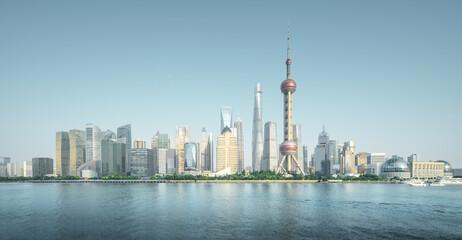 Fotomurales - Shanghai skyline in sunny day, China