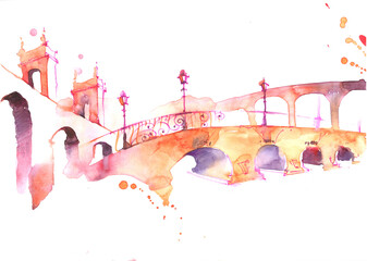 Photo sur Toile Peintures bridge