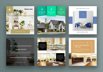 Real Estate Social Media Layouts