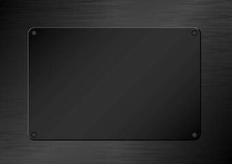 black plaque