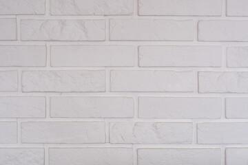 Obraz biała ściana ceglana - fototapety do salonu