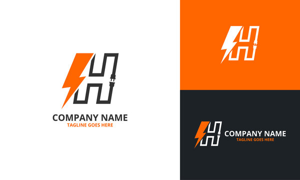 Flash H Letter Logo Icon Template. Illustration vector graphic. Design concept Electrical Bolt With Initial H Letter Logo Design. Perfect for corporate, technology, initial , community and more techno