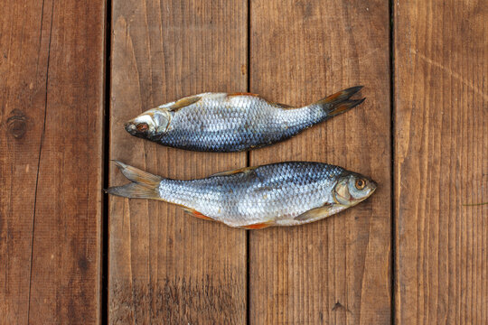 fish on a wooden board