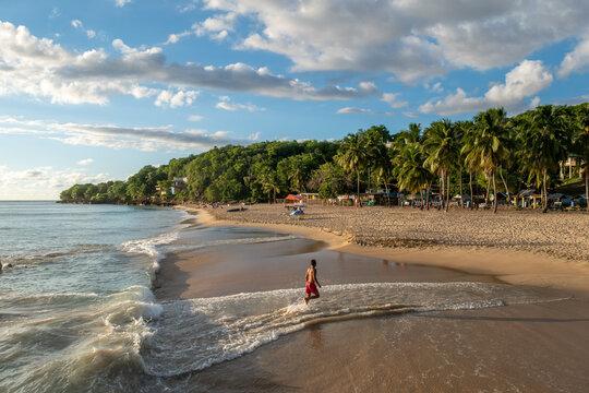 Dreamy sunset at Crash Boat Beach in Aguadilla, Puerto Rico.