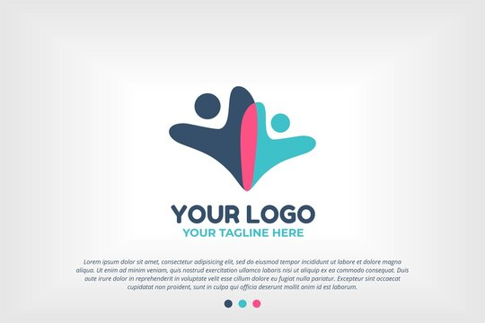 Youth People Logo Template