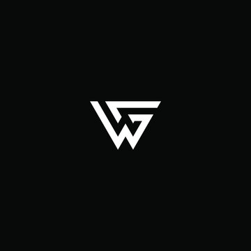wg letter vector logo abstract