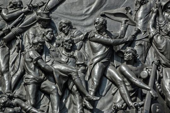 Death of Nelson bronze plaque, Trafalgar Square