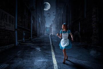 Fear of the dark . Mixed media