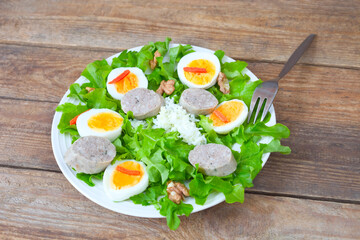Eier- Wurst- Salat