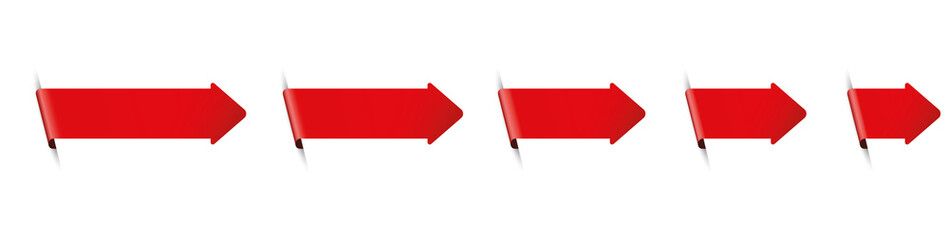 set of red arrow bookmark banners for any text on white background Wall mural