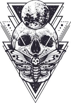 skull isolated vector illustration for Tshirt design