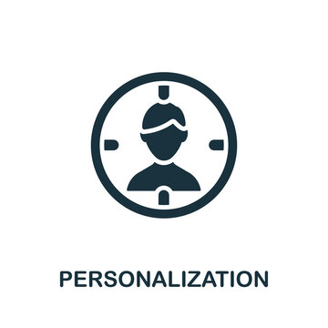 Personalization icon. Simple element from content marketing collection. Creative Personalization icon for web design, templates, infographics and more