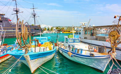 Papiers peints Navire Port with fishing boats in Ayia Napa
