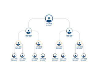 business hierarchy infographic round elements. organizational structure of the company. multi-level business management structure