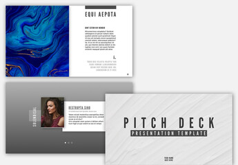 Pitch Deck Layout with Black and White Accents