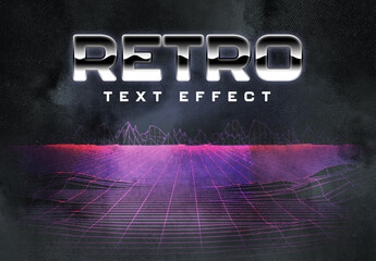 80S Retro Text Effect Layout