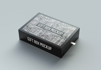 Gift Box Packaging Mockup