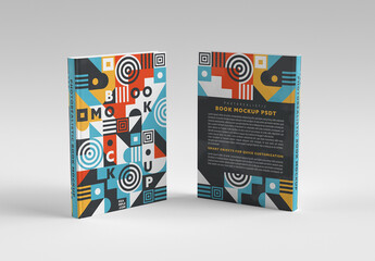 Two Sides of Vertical Book Mockup