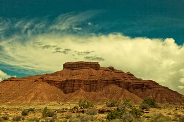 Góra powstała w wyniku erozji w stanie Utah - fototapety na wymiar
