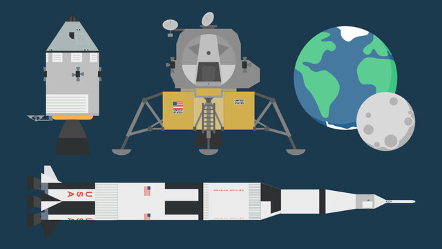 Apollo Moon Landing Set