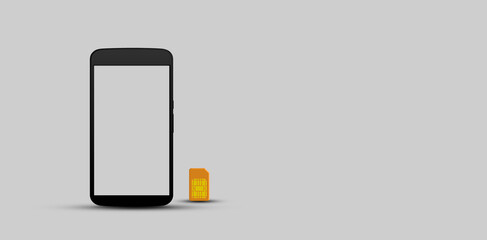 Mobile phone template free copyspace illustration background concept.