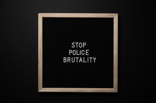 Black Lives Matter Protest Sign on a black background