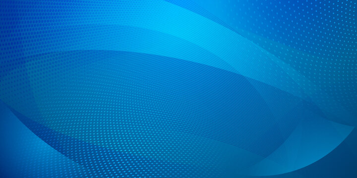Abstract background made of halftone dots and curved lines in light blue colors