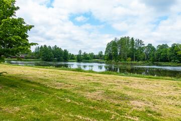 Białowieski Park Narodowy Białowieża Podlasie Jezioro staw woda park drzewa