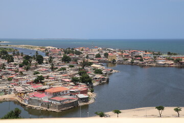 view of the port of  Angola