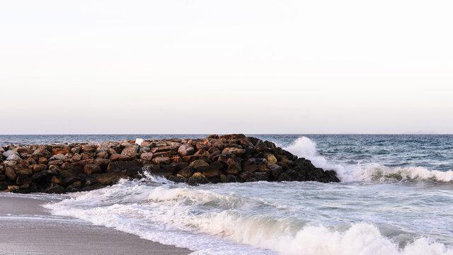 It's Carribean coast landscape of the Isla Margarita, Venezuela