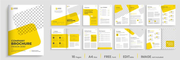 Brochure template layout design, Corporate multipage minimalist business profile template layout.