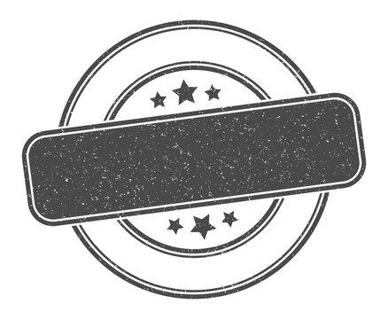 blank stamp. blank label. round grunge sign