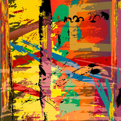 abstract background illustration, with paint strokes and splashes