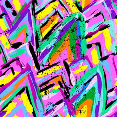 abstract background composition, with paint strokes and splashes, seamless