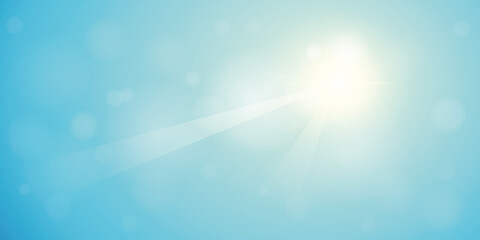 blue sunny sky summer background with copy space vector illustration EPS10