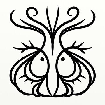 Nice symmetrical garlic head for fun prints
