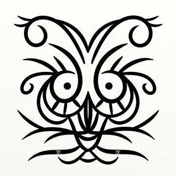 Cute symmetrical octopus for fun prints