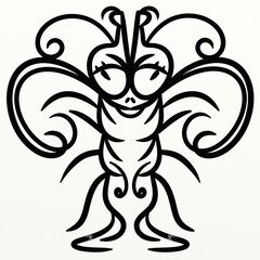 Fototapeten Klassische Abstraktion Symmetrical cute insect for fun prints