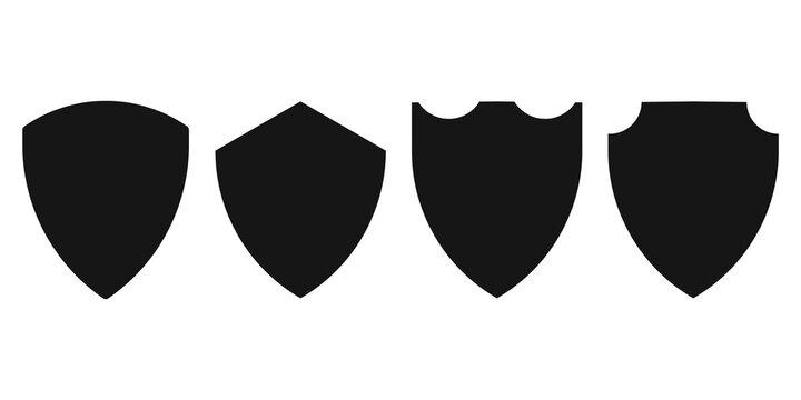Sheild icon set. Protect badge vector collection.