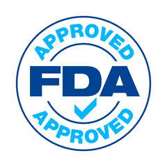 U.S. Food and Drug Administration FDA approved vector stamp