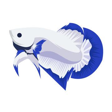 Betta Blue Rim Logo Vector Design