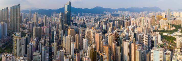 Aerial view of Hong Kong city Fotomurales