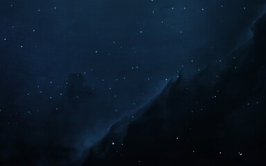 Wall Mural - Starfield in deep space many light years