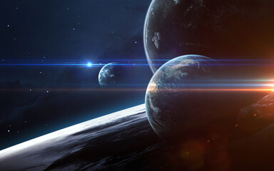 Wall Mural - Universe scene with planets