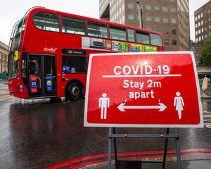 COVID-19 Social Distancing Sign in London