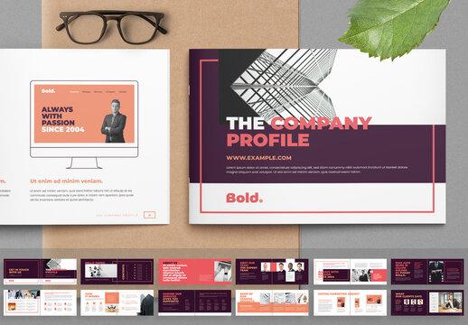 Company Profile Landscape Brochure Layout