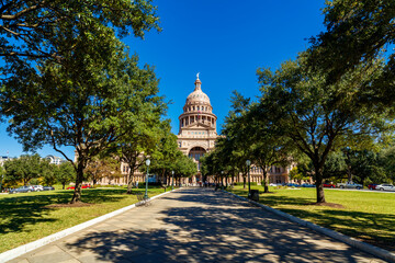 Beautiful Texas State Capitol building located in Austin, Texas Fotobehang
